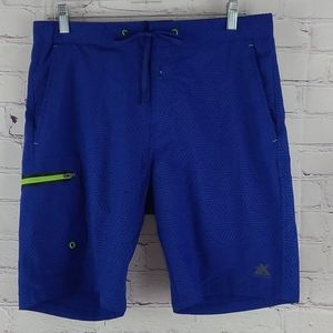 Zero Exposure Mens Blue Swim Trunks Size Small
